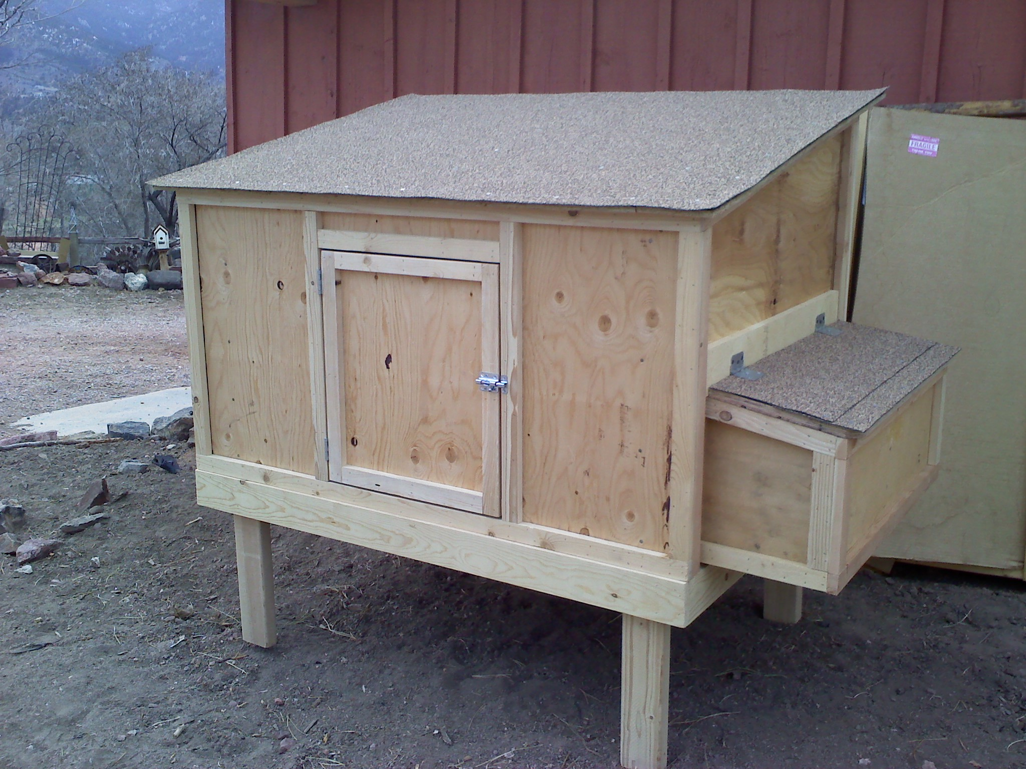 Chicken coops for sale the goat cheese lady for Homemade chicken coops for sale