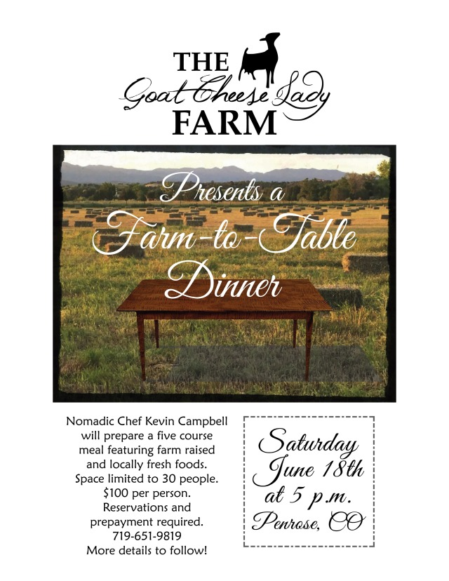 GCL Farm to Table chef flier