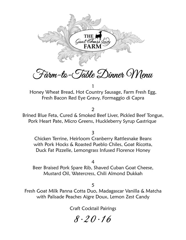 GCL Farm to Table 8.20.16 menu