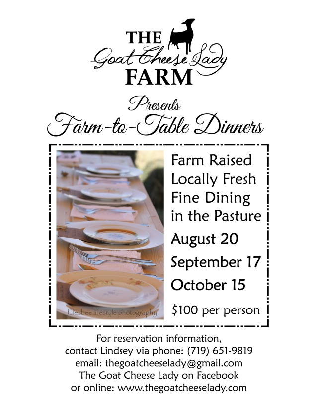 GCL Farm to Table dates flier 7.18.16